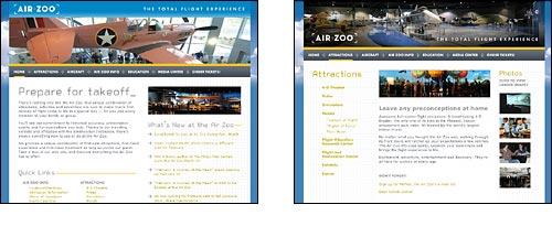 Air Zoo official web site